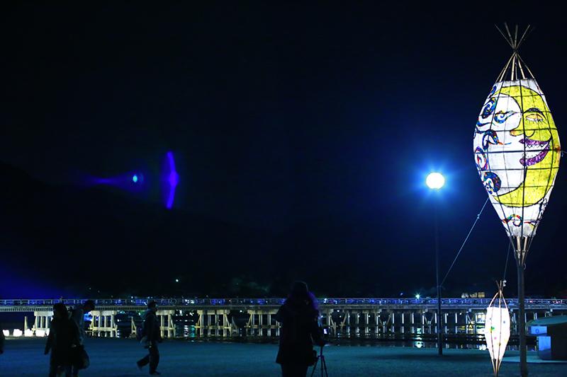 嵐山 渡月橋 花灯路