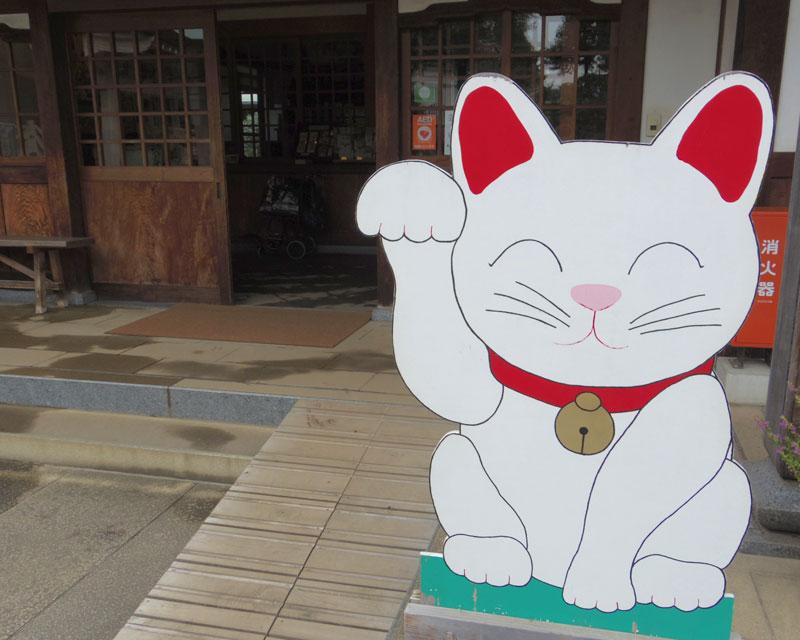 こちらで招き猫の起源について聞く