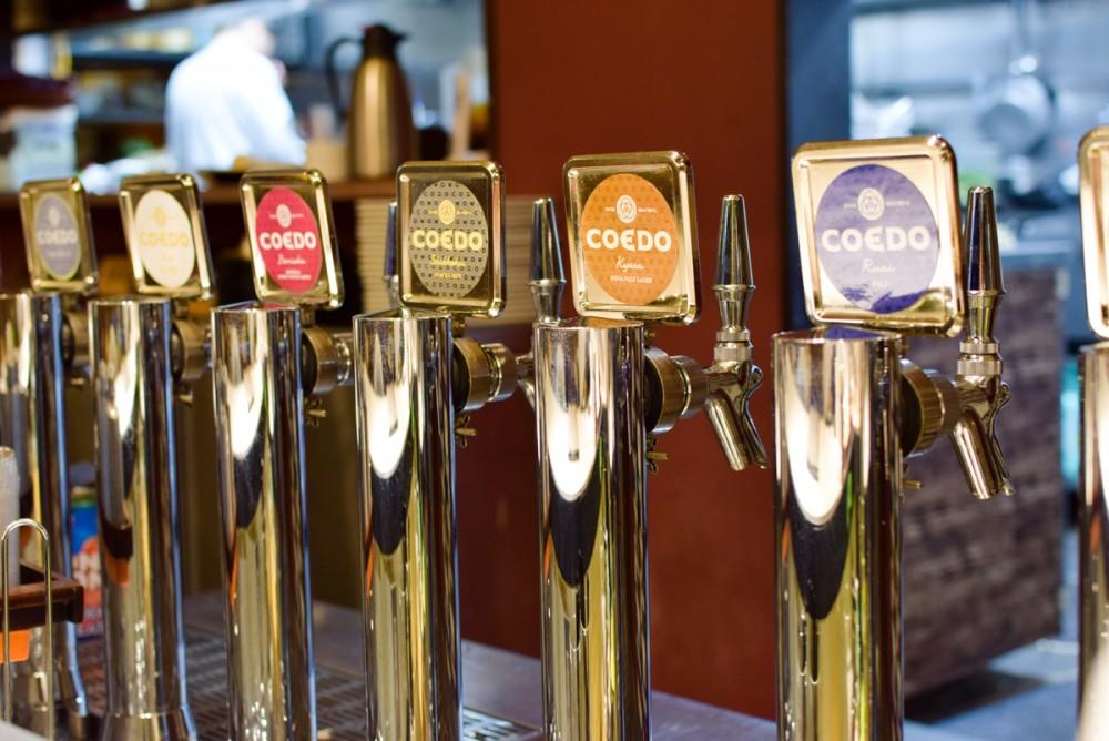 6種類のCOEDOブランドが並んだビールサーバーを見ると一気にテンションが上がります!