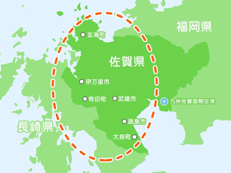 佐賀西側マップ