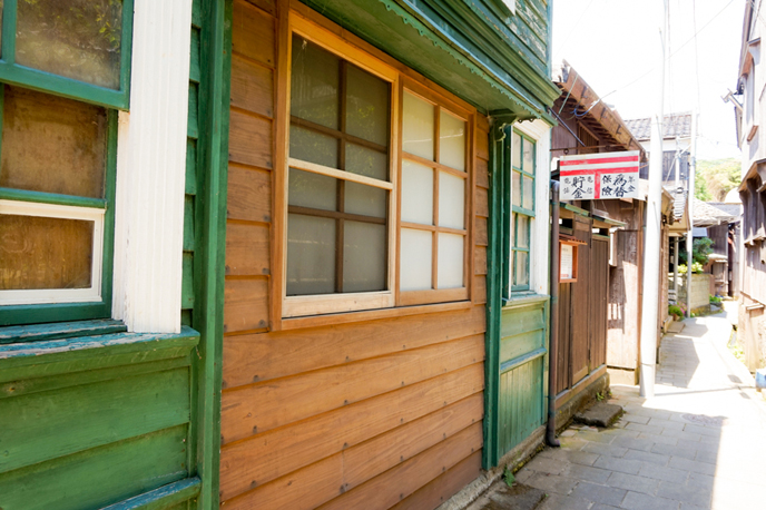 大正10年に建てられた、洋風建築の旧郵便局