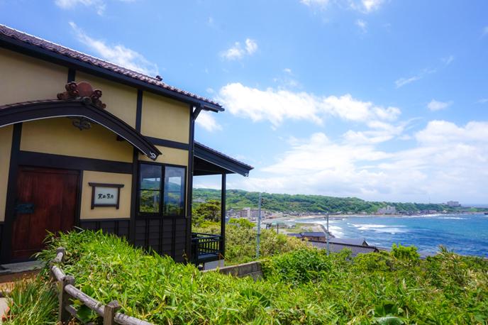 海が見える古民家カフェ、京町茶屋