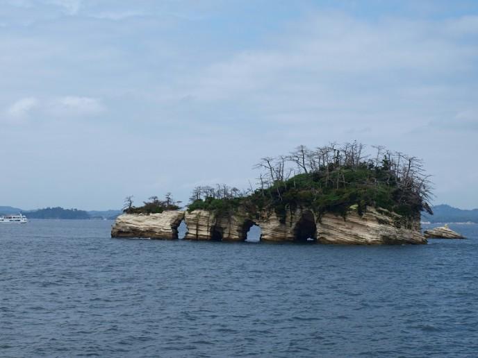 遊覧船の景色