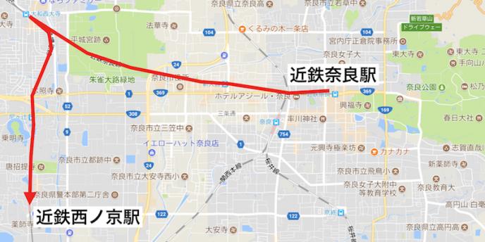 地図データ:Google, ZENRIN