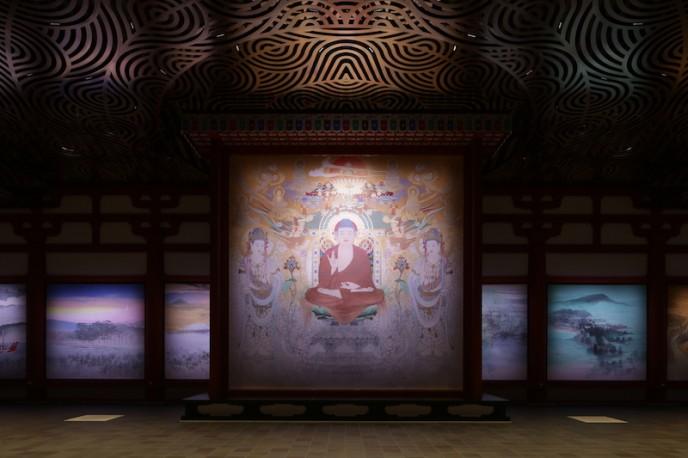 薬師寺 食堂の中の様子