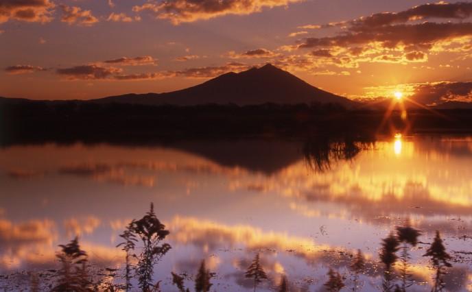 ★筑波山(紫峰)※母子島遊水地(筑西市)より撮影