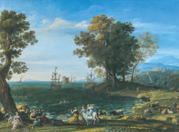 クロード・ロラン《エウロペの掠奪》1655年 © The Pushkin State Museum of Fine Arts, Moscow.
