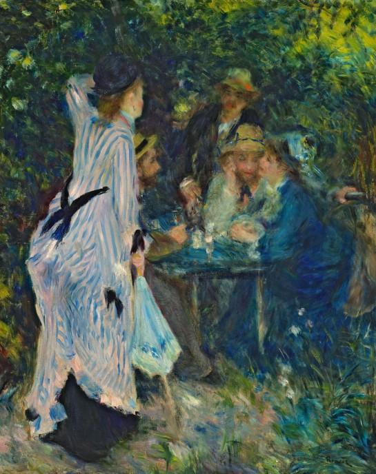 ピエール=オーギュスト・ルノワール 《庭にて、ムーラン・ド・ラ・ギャレットの木陰》 1876年 © The Pushkin State Museum of Fine Arts, Moscow.
