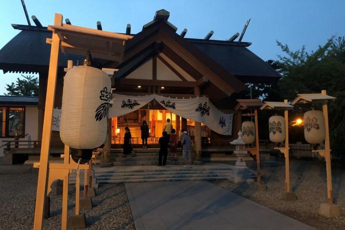 夜の土崎神明社