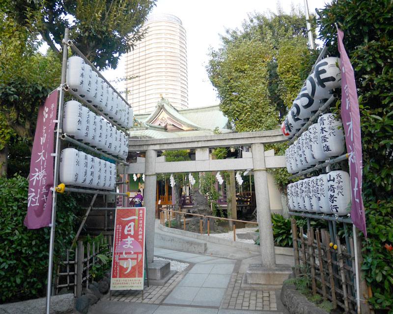 高木神社の鳥居